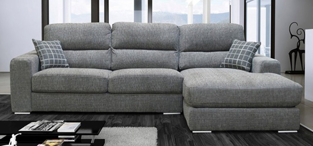Pisa Corner Rhf Grey – Fabric Sofas – Sofas Intended For Fabric Sofas (Image 9 of 10)