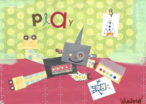 Play Robot Canvas Wall Artoopsy Daisy – Rosenberryrooms Within Robot Canvas Wall Art (Image 10 of 20)
