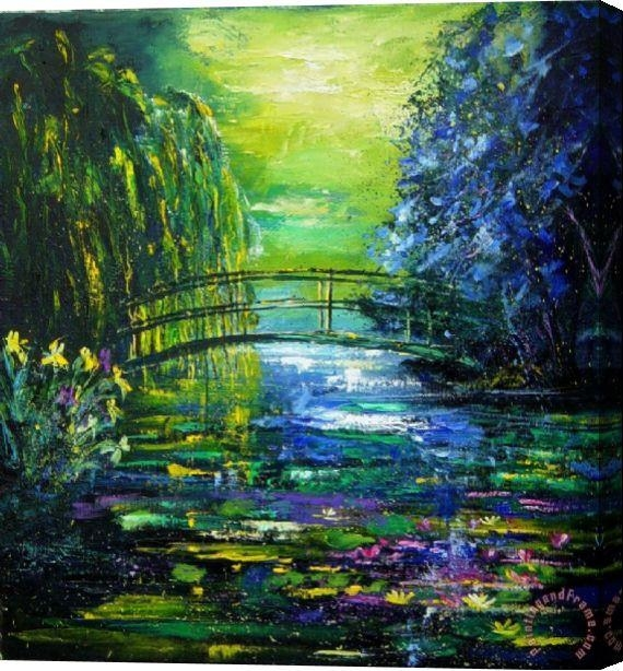 Pol Ledent After Monet Stretched Canvas Print / Canvas Art For Inside Monet Canvas Wall Art (Image 14 of 20)