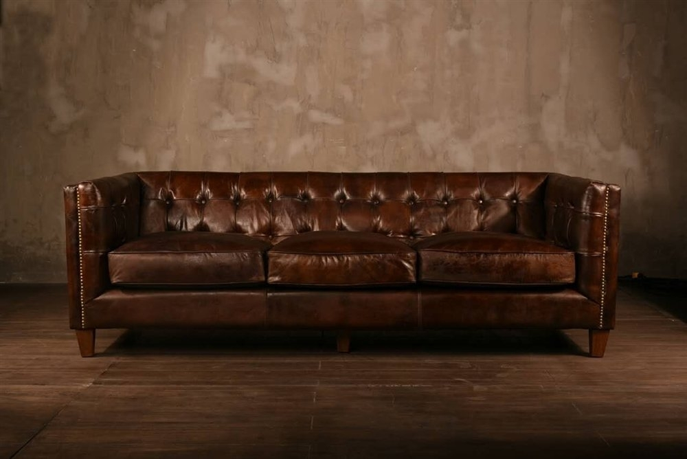 Polivaz Leather Chesterfield Sofa & Reviews | Wayfair Throughout Leather Chesterfield Sofas (Image 7 of 10)