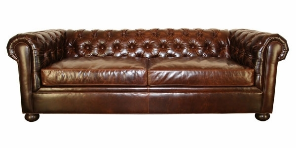 Popular Amazon Com Modern Real Leather Tufted Chesterfield Sofa In Tufted Leather Chesterfield Sofas (Photo 8 of 10)