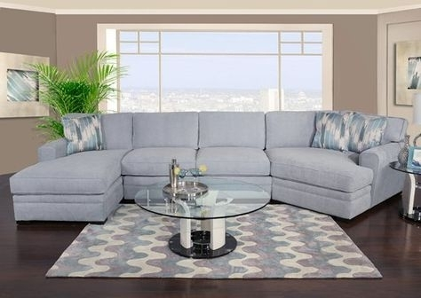 Poseidon Ii 3 Piece Chaise Sectional With Cuddler | Future House Intended For Sectional Sofas With Cuddler (Photo 1 of 10)