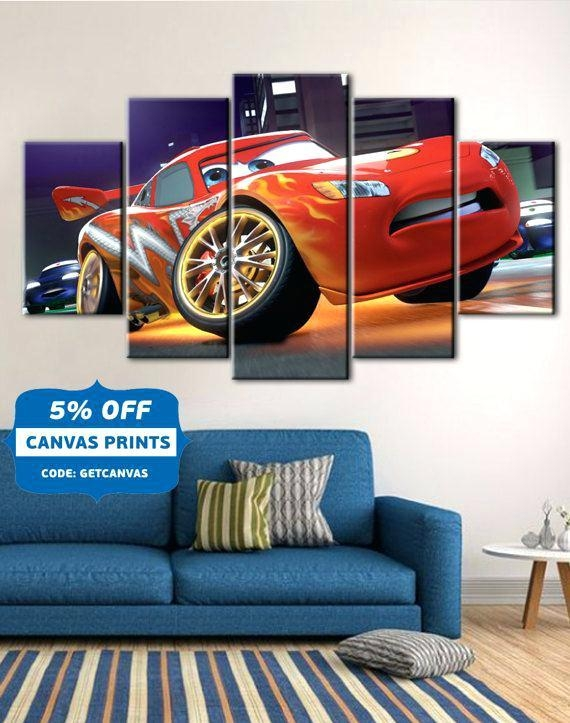 Posters For Kids Bedroom Poster Nursery Theme 3 Panelon Home For Cars Theme Canvas Wall Art (Image 15 of 20)