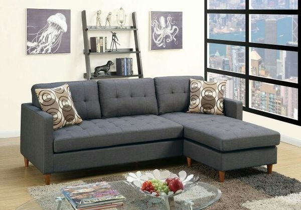 Poundex Black Sectional Sofa With Pillows F7094 (Furniture) In With Regard To Memphis Tn Sectional Sofas (View 4 of 10)