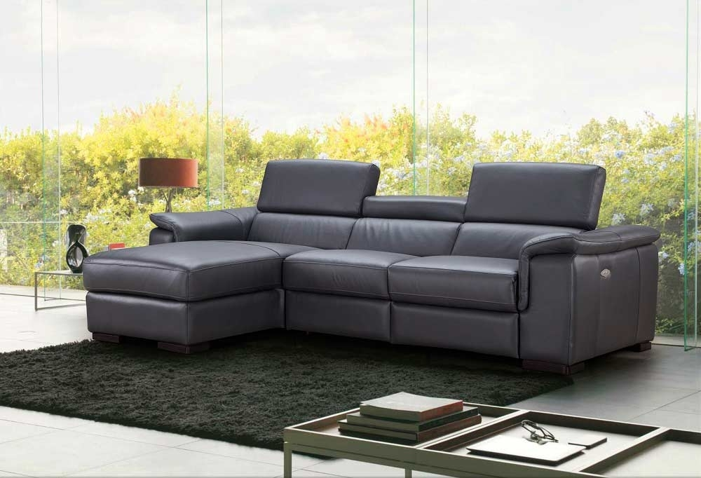 Premium Leather Sectional Sofa With Power Recliner Nj Ariana With Nj Sectional Sofas (View 2 of 10)