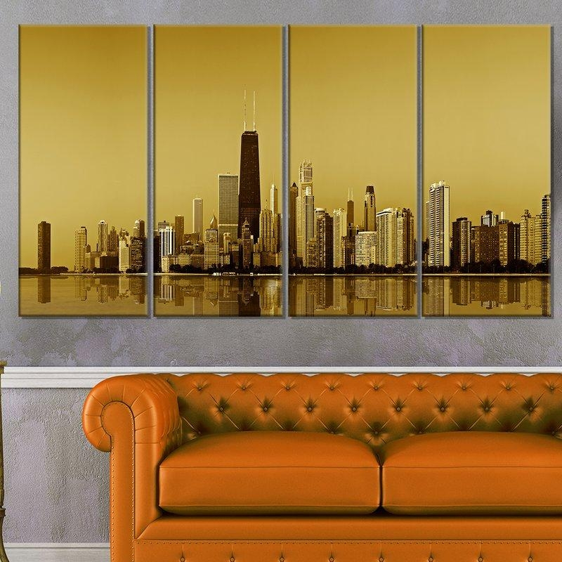Pretty Chicago Wall Art Contemporary – Wall Art Design Pertaining To Gold Coast Canvas Wall Art (Image 18 of 20)