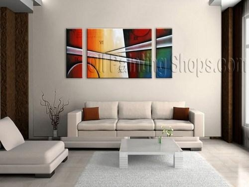 Primitive Tri Panel Wall Art For Living Room Modern Art Abstract For Abstract Wall Art For Living Room (Image 19 of 20)