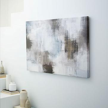 Print Abstract Smudges In Gray Abstract Wall Art (View 8 of 20)