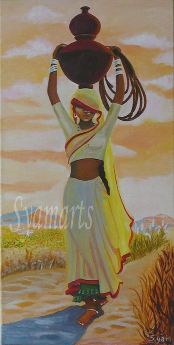 Print Of Original Painting Available, Canvas Art, Acrylic Painting Intended For India Abstract Wall Art (Image 13 of 20)