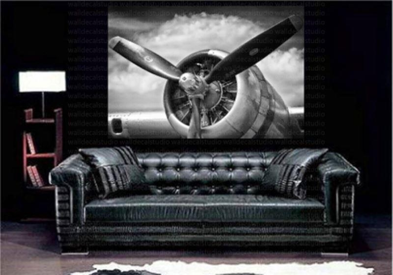 Print Plus Retro Aircraft Plane Propeller Canvas Wall Decor Intended For Retro Canvas Wall Art (Image 16 of 20)