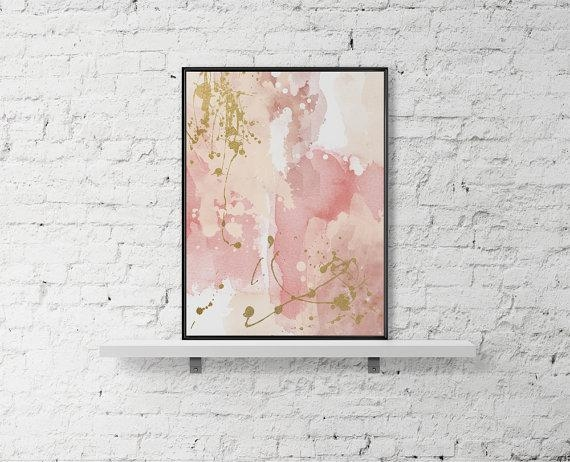 Printable Wall Art Pastel Print Abstract Paint Watercolor Poster Pertaining To Printable Abstract Wall Art (Image 18 of 20)