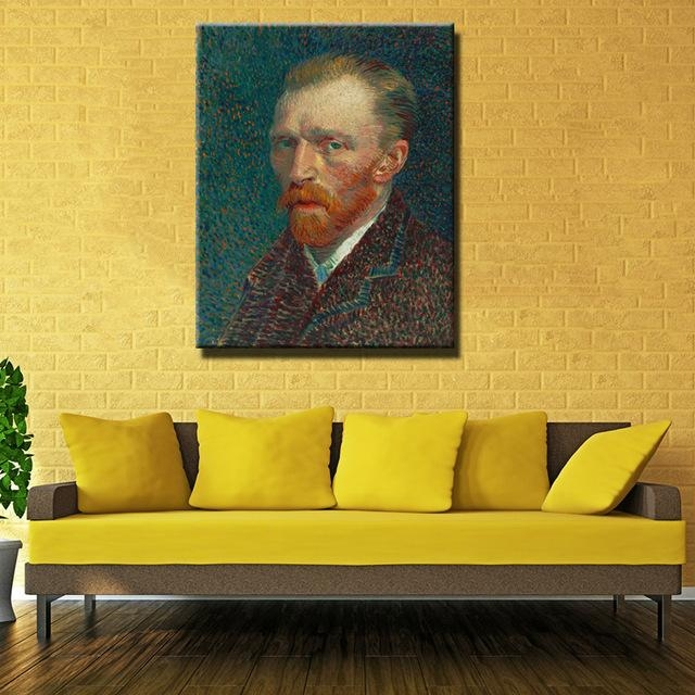 Printed Masters Vincent Van Gogh Portrait Prints Reputation Oil With Regard To Masters Canvas Wall Art (View 13 of 20)