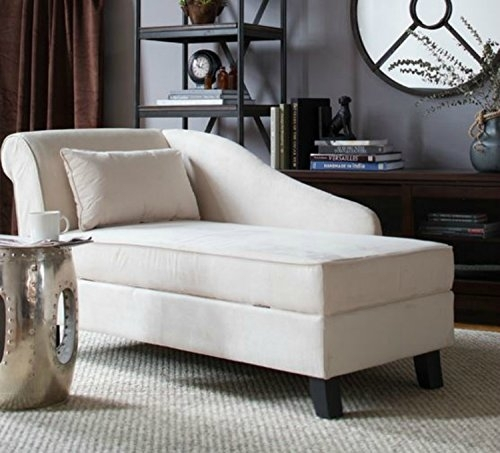 Product Reviews | Buy Storage Chaise Lounge Chair  This Microfiber Within Accent Sofa Chairs (Image 9 of 10)
