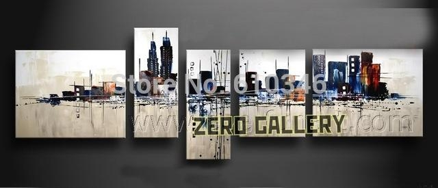Promote Handwork Modern Abstract Melbourne New York Pari Cityscape With Melbourne Abstract Wall Art (Image 18 of 20)
