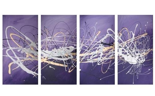Purple Abstract Canvas Art – Tehno Art Inside Purple And Grey Abstract Wall Art (View 3 of 20)