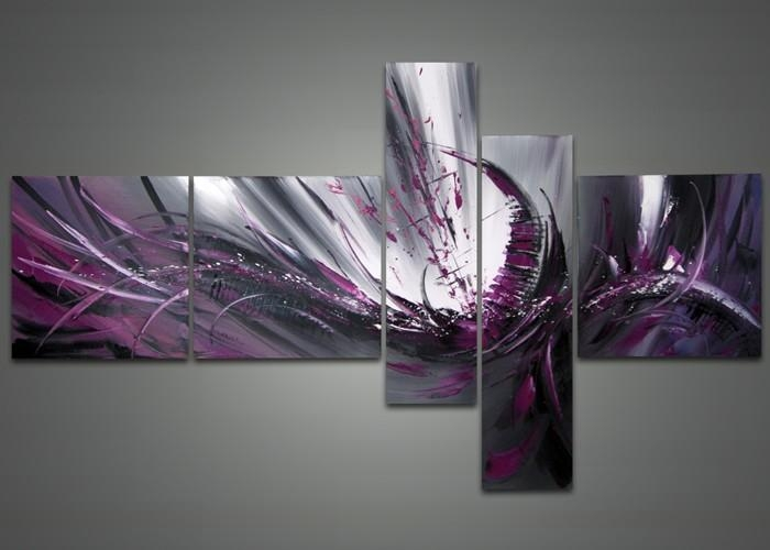 Purple Abstract Canvas Painting Fabu Art – Dma Homes | #87061 With Purple And Grey Abstract Wall Art (Photo 10 of 20)