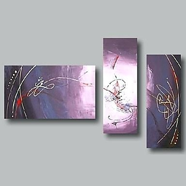 Purple And Gray Wall Art Modern Purple Red Abstract Oil Painting Regarding Purple And Grey Abstract Wall Art (Image 16 of 20)