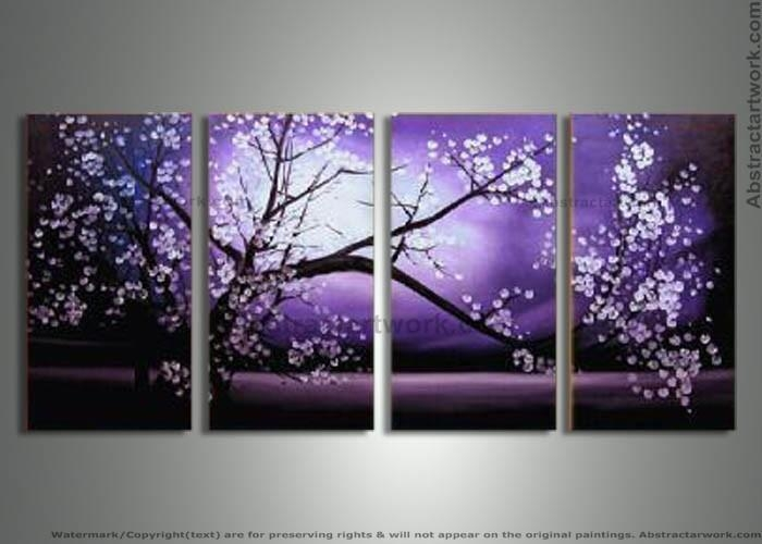 Purple Modern Art | Piece Purple Modern Decorative Oil Painting On With Canvas Wall Art In Purple (Image 18 of 20)