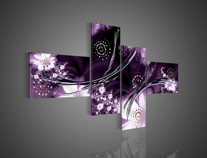 Purple Pictures Plum Coloured Wall Art Lavender Bedroom Walls Regarding Purple And Grey Abstract Wall Art (View 16 of 20)