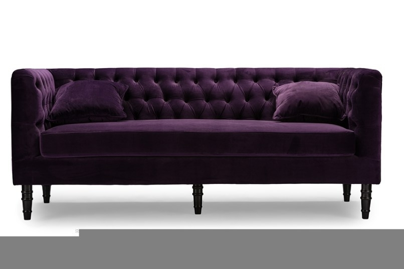 Purple Velvet Sofa Attractive Www Napma Net Within 9 With Velvet Purple Sofas (Image 7 of 10)