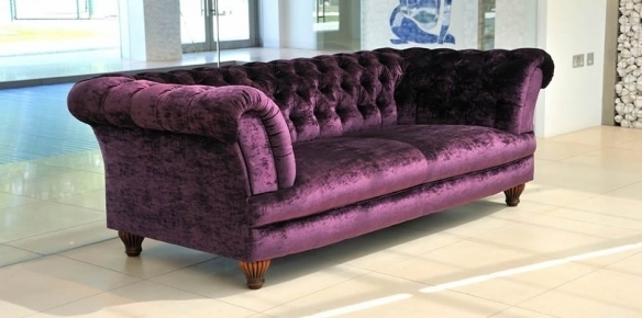 Purple Velvet Sofa – Velvet Sofavelvet Sofa In Velvet Purple Sofas (Image 6 of 10)