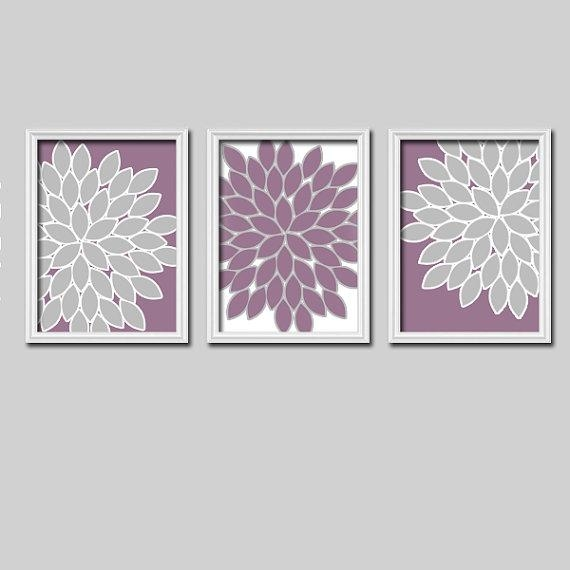 Purple Wall Art – Bedroom Pictures – Canvas Or Prints Purple With Regard To Lilac Canvas Wall Art (Image 14 of 20)