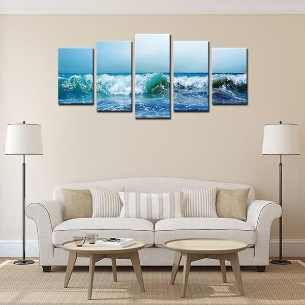 Quality Inspection For Hd Canvas Painting Print Landscape Blue Sea Pertaining To Leadgate Canvas Wall Art (Image 17 of 20)