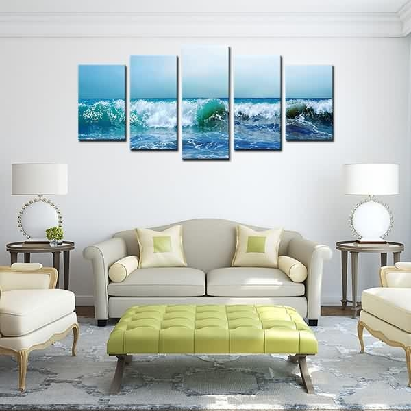 Quality Inspection For Hd Canvas Painting Print Landscape Blue Sea Pertaining To Leadgate Canvas Wall Art (Photo 15 of 20)
