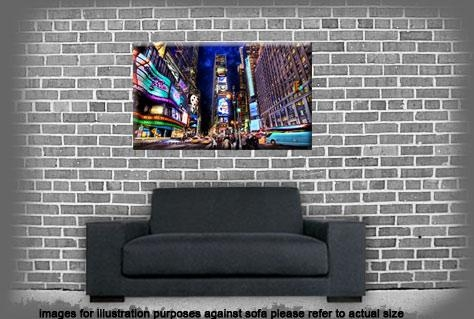 Quirky New York Times Square At Night Single Canvas Wall Art Picture With Regard To Quirky Canvas Wall Art (Image 15 of 20)