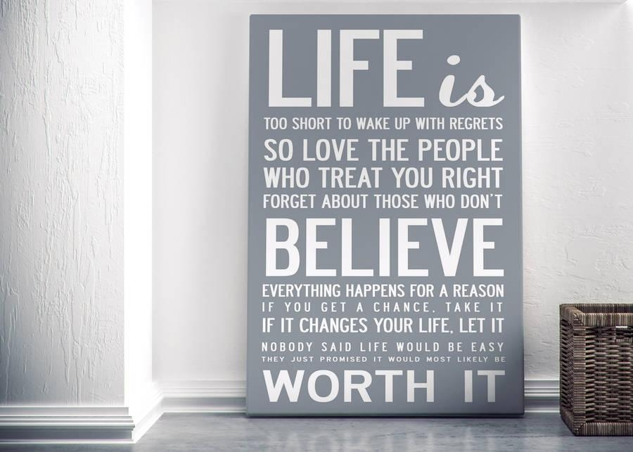 Quotes : Canvas Wall Art Love Quotes Intended For Canvas Wall Art Funny Quotes (Image 18 of 20)