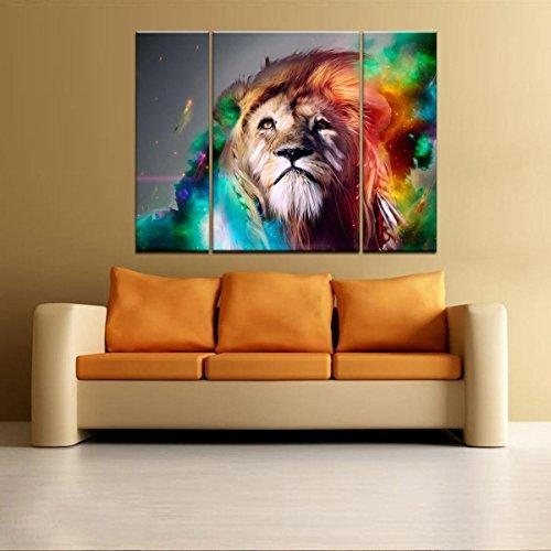 Rain Queen Modern Abstract Art Colorful Lion Oil Paintings On Within Modern Abstract Huge Wall Art (Image 14 of 20)