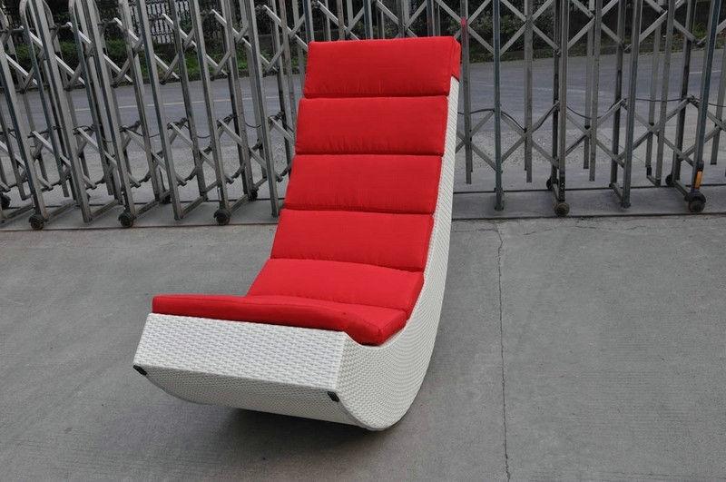 Rattan Rocking Chair , Aluminum Frame Comfortable Rocking Sofa With Rocking Sofa Chairs (Image 5 of 10)