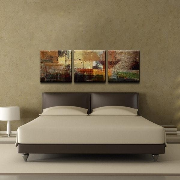 Ready2Hangart 'abstract' Oversized Canvas Wall Art (3 Piece Set With Regard To Overstock Abstract Wall Art (Photo 5 of 20)