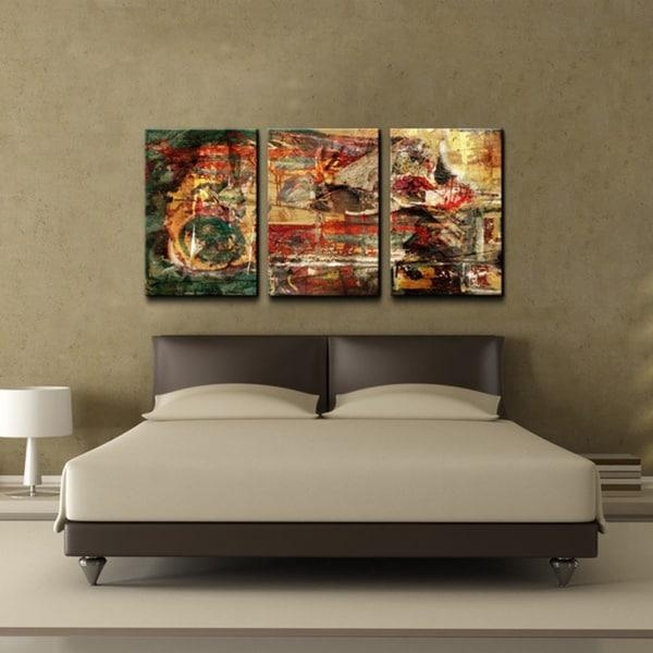 Ready2Hangart 'abstract' Oversized Canvas Wall Art (Set Of 3 Intended For Abstract Oversized Canvas Wall Art (Image 13 of 20)