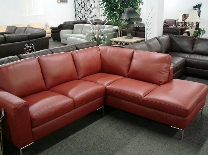 Recliner Natuzzi Leather Sectional Sofa, Red Leather Sofa Within Natuzzi Sectional Sofas (Image 8 of 10)