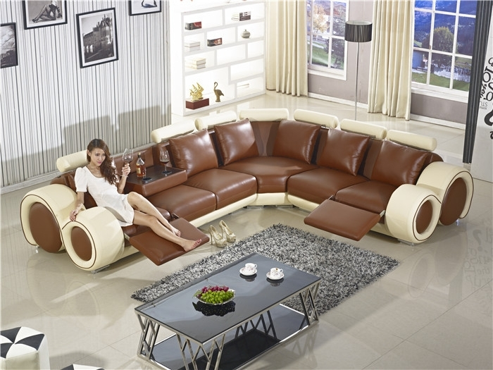 Recliner Sofa New Design Large Size L Shaped Sofa Set Italian In Large Sofa Chairs (Image 8 of 10)
