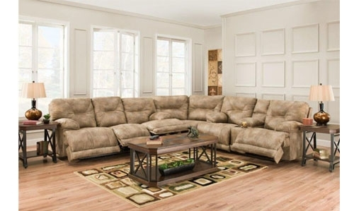 Reclining Sectional Sofa Multiple Recliners In Farmers Furniture Sectional Sofas (View 7 of 10)