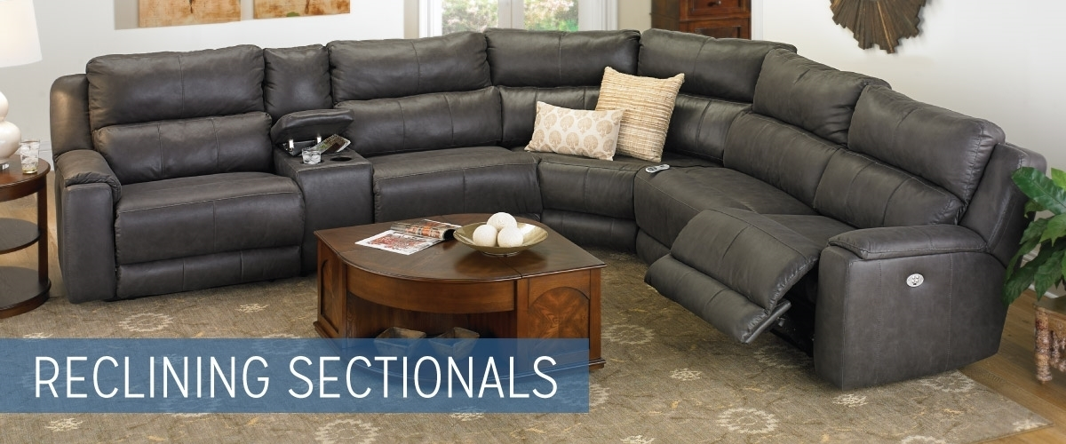 Reclining Sectional Sofas Haynes Furniture Virginias Furniture With Virginia Sectional Sofas (Photo 9 of 10)