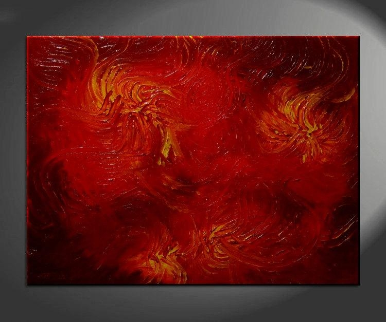 Red Abstract Archives – Artnathalie Van Regarding Ottawa Abstract Wall Art (View 14 of 20)