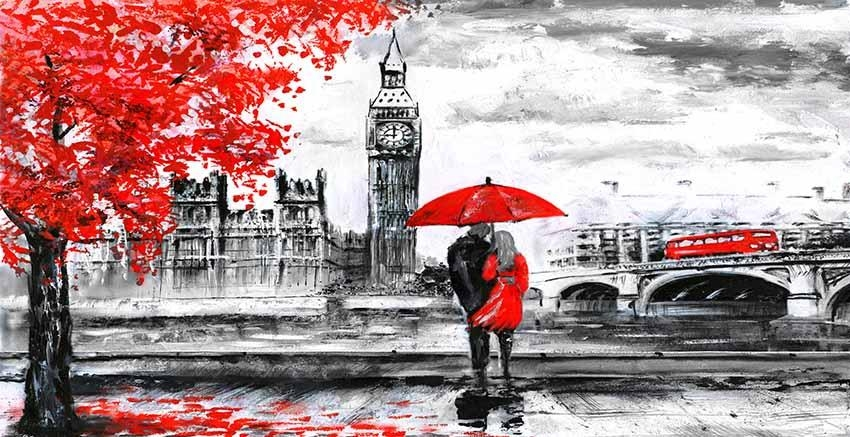 Red Art – Canvas Art Gallery Throughout Canvas Wall Art Of London (Image 17 of 20)