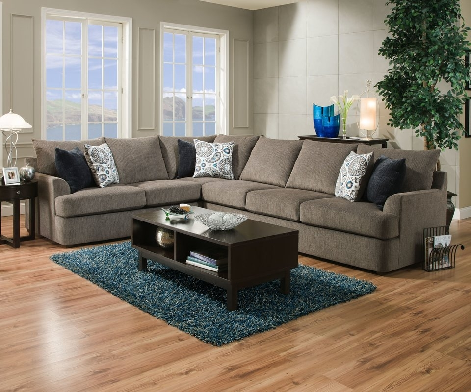 Red Barrel Studio Seminole Simmons Sectional & Reviews | Wayfair Within Simmons Sectional Sofas (Photo 9 of 10)