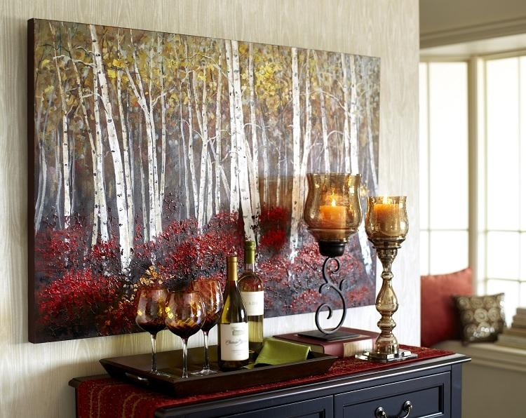 Red Birch Trees Art – 2.5X4 | Tree Wall Art, Birch And Walls Within Pier One Abstract Wall Art (Photo 8 of 20)