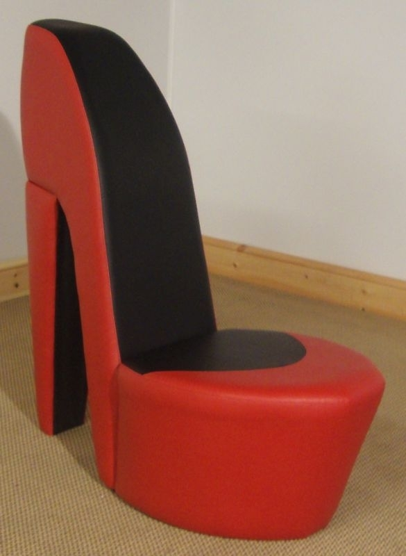Red & Black Shoe / High Heel / Stiletto Chair | High Heel Chair For Heel Chair Sofas (Image 7 of 10)