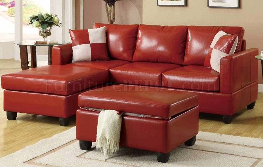 Featured Image of Small Red Leather Sectional Sofas