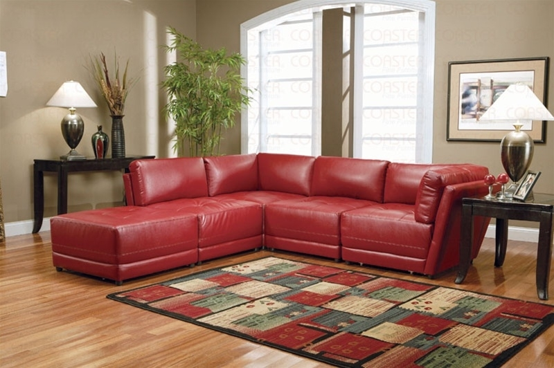 Featured Image of Red Leather Couches For Living Room