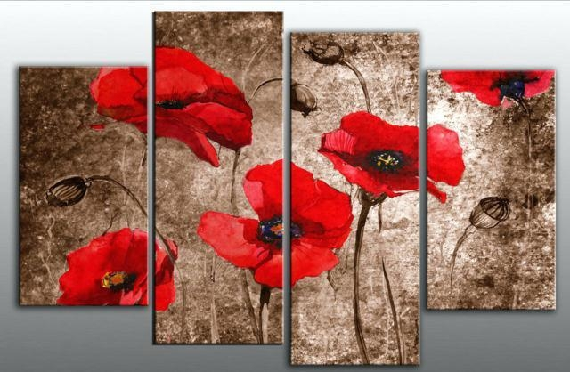 Red Canvas Wall Art Black And White Red Wall Art On Canvas Red Regarding Red Canvas Wall Art (Image 13 of 20)