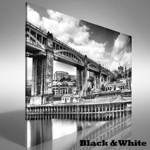 Red Hue Bridge Newcastle Upon Tyne Canvas Print Large Picture Wall Within Newcastle Canvas Wall Art (Image 14 of 20)