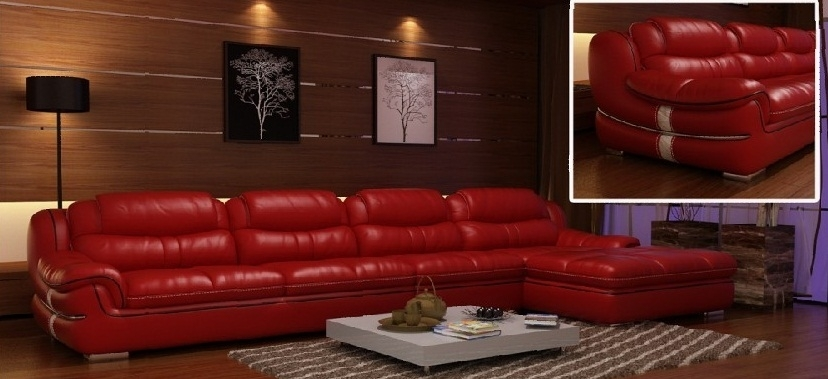 Red Leather Couch Living Room Ideas – Khabars Pertaining To Red Leather Couches For Living Room (Image 6 of 10)