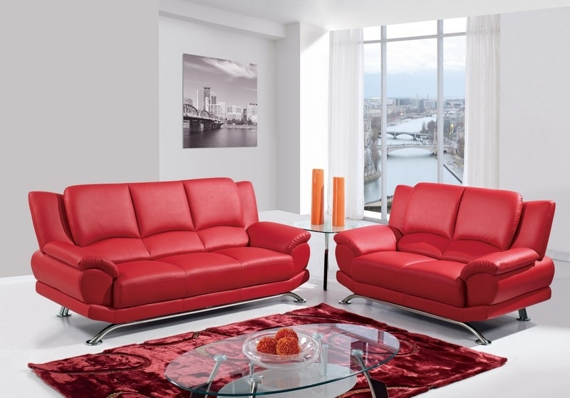 Red Leather Living Room Furniture (Image 8 of 10)