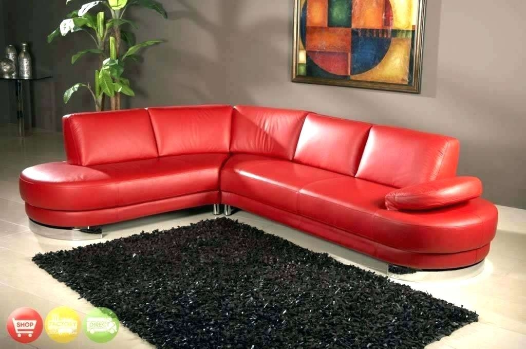 Red Leather Sectional Couch Red Leather Sectional Sofa Marvelous Red Inside Red Leather Sectional Couches (Image 6 of 10)